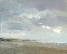 SEASCAPE Winter Quiet Beach - Paintings by Roos Schuring Painter Pleinair