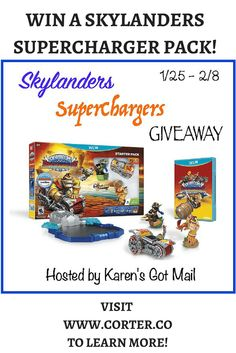 Win a Skylanders Superchargers Pack! Visit our website to learn more!