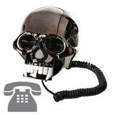 Teléfono Calavera Black Skull