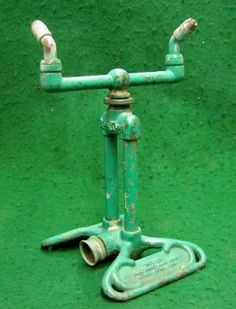 Electronics, Cars, Fashion, Collectibles, Coupons and Teal Green, Green Colors, Garden Art, Garden Tools, Garden Sprinklers, Cast Iron, Primitive, Rain, Bronze