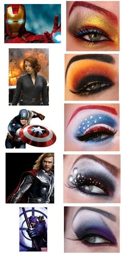 superhero eye shadow