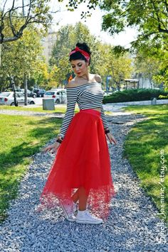 Red tulle skirt, Women tulle skirt, Maxi tulle skirt, Adult tulle skirt Engagement tulle skirt Pin up skirt Red Tulle Skirt, Adult Tulle Skirt, Tulle Skirts, Black Crop Tops, Maxis, Up Girl, Hot Pink, Pin Up, Color