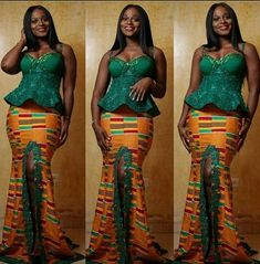 Latest Kente Designs That Will Make You Fall in Love - Afro Fahionista African Dresses For Women, African Print Dresses, African Attire, African Wear, African Fashion Dresses, African Women, Ghanaian Fashion, African Prints, African Lace