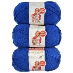 Premier Yarns 3-Pack Solid Deborah Norville Everyday Soft Worsted, Royal Blue