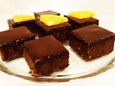 Pomarančové RAW brownies s čokoládovou polevou