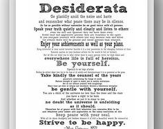 picture regarding Printable Desiderata identify Desiderata Pdf Identical Key phrases Rules - Desiderata