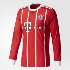 FC Bayern Munich 2017-18 Season Home LS FCB Jersey [K231]
