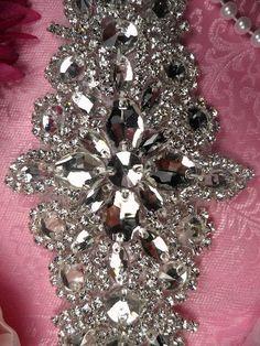 Crystal Appliques | sash applique crystal rhinestone 9 bridal sash applique with crystal ...