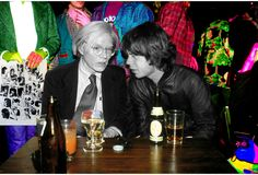Andy Warhol & Mick Jagger, not necessarily 'beautiful people' but still a cool photo