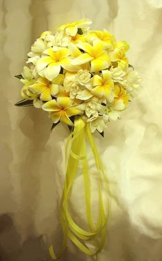 Round Yellow Plumeria Bouquet With Rose And Gardenias Yes This Is It