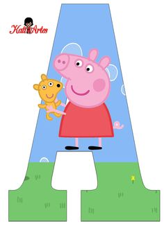 Alfabeto de Peppa Pig y Perrito Chuck a party that is certainly uncomplicated, fashionable, Pig Birthday Cakes, Kids Birthday Cards, 3rd Birthday Parties, Birthday Party Decorations, 2nd Birthday, Peppa Pig Imagenes, Peppa Pig Printables, Peppa E George, Cumple Peppa Pig
