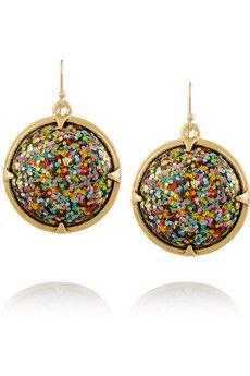 Lulu Frost Audrey gold-plated cabochon earrings | NET-A-PORTER
