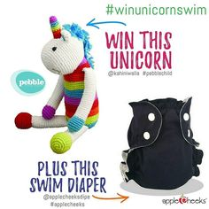 Love unicorns? This giveaway is for YOU! Pebble Child and AppleCheeks Cloth Diapers are delighted to announce that one lucky fan will get to own the very first one of these unicorn toys (not yet available at retailers) along with a fabulous swim diaper!  Here's how to enter: follow @kahiniwalla follow @applecheeksdipe repost this image with the following tags: #pebblechild #applecheeks #winunicornswim for a bonus entry tag one friend in the comments!  One winner will be selected from all…