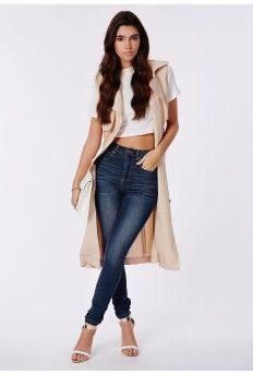Edie High Waist Skinny Jeans In Dark Vintage Wash