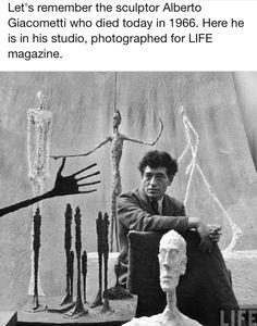 Giacometti in his studio.