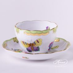 Herend Victoria VBO cup with [AMAZON FBA Delivery 24h] #Queen #Victoria china cup with saucer - 730-0-00 VBO This item is available for FBA shipment - This means, you can order it with 24h delivery granted by Amazon Warehouses. #Luxury #handmade #handcrafted china.