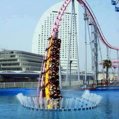 Under water roller coaster in Japan. Oh fun!!!