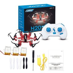 New Arrival Mini RC Drone 6 Axis Rc Dron Jjrc Micro Quadcopters Professional Drones Flying Helicopter Remote Control Toys Nano Copters Red Color >>> For more information, visit image link.