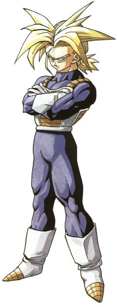 Future Trunks had the wildest, most unruly Super Saiyan hair of anyone in the series - and it was also my favorite SSJ hair.