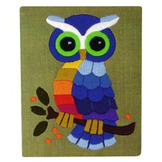 'Vintage Owl Yarn' by plaidponyvintage by milagros Owl Crochet Patterns, Owl Patterns, Owl Embroidery, Embroidery Stitches, What's My Favorite Color, Owl Theme Classroom, Disney Silhouettes, Crocodile Stitch, Lord Shiva Painting