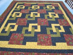 "5 yard quilt patterns free | It is from a book called ""Mystery Quilts"" by Rita Fishel. It measures ..."