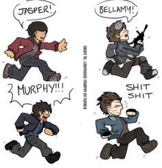 Bellamy The 100, Lexa The 100, The 100 Show, The 100 Cast, Cartoon Movies, Cartoon Kids, Jasper The 100, The 100 Monty, The 100 Raven