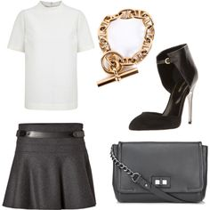 """""""white&grey."""" by charlieandfog on Polyvore"""