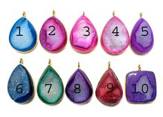 24 kt Gold Plated Druzy Pendants  1 piece of fine by finegemstone, $17.00