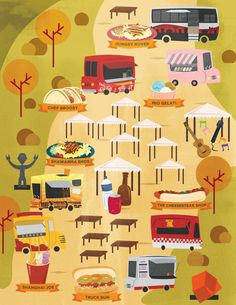 Cucina Andare map - an all-year-round food truck market at Makati, Manila by  Krizia Lim