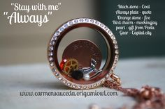 """#origamiowl #katniss #hungergames    """"Always"""" was Peeta's response. This locket is perfect gift for the Hunger Games fan in your life.      www.facebook.com/OrigamiOwlByCarmenSauceda"""