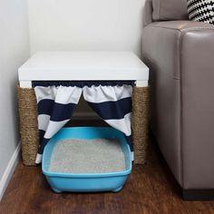 Voyez comment donner du STYLE au coin litière de votre chat avec cette solution FUTÉE! - Trucs et Bricolages