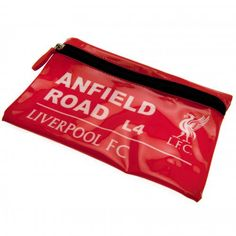 Great looking PVC Liverpool FC pencil case in a street sign design and featuring the club crest. FREE DELIVERY on all of our football gifts