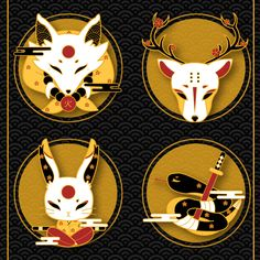 Familiar Spirits - Gold Plated Hard Enamel Pins by Xiune on Etsy