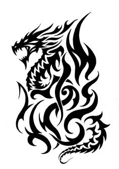 Tribal Fire Dragon Tattoos Designs - Clipart library - Clip Art LibraryYou can find Tribal tattoo designs and more on our website. Tribal Dragon Tattoos, Celtic Dragon Tattoos, Dragon Tattoos For Men, Dragon Tattoo Designs, Tribal Tattoo Designs, Tribal Drawings, Tribal Tattoos For Men, Geometric Tattoos, Tattoo Life