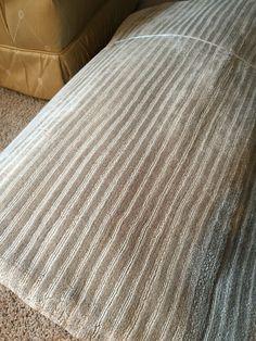 Silver /taupe pinstriped rug Restoration Hardware by Ben Soleimani flatweave