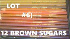 COLOR PENCILS LOT#6: 12 BROWN SUGARS! CRAYOLA ROSE ART BRANDS