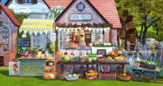 Sims 4, Gazebo, Outdoor Structures, Ruby Red, Farmers Market, Objects, Poses, Figure Poses, Kiosk