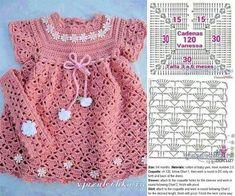 Crochet Toddler Dress, Crochet Baby Dress Pattern, Crochet Baby Cardigan, Crochet Fabric, Baby Girl Crochet, Crochet Baby Clothes, Easy Crochet, Crochet Baby Dresses, Crochet Top