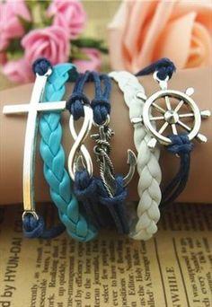 Christmas gifts Cupid arrow  LOVE rudder cross bracelet