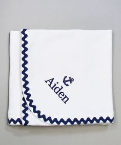 Personalized baseball baby blanket sports theme by thedreamydaisy princess linens layette white navy anchor personalized stroller blanket negle Gallery