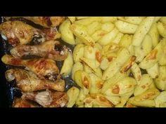 Pulpe de pui si cartofi la cuptor Cauliflower, Meat, Chicken, Vegetables, Recipes, Food, Youtube, Cauliflowers, Recipies