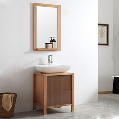 "Monza 24"" Single Vanity Set with Mirror"