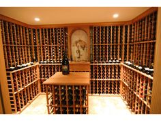 view complete custom wine cellars created by read testimonials from satified customers a custom mahogany cellar mahogany wine cellars traditional wine cellar