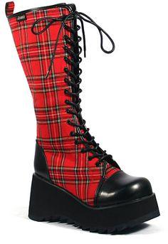 Scene-100, Demonia, Demonia Boots, Punk Shoes, Punk Boots, Creepers, Demonia Shoes