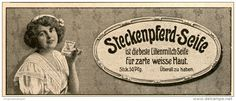 Original-Werbung/ Anzeige 1914 - STECKENPFERD LILIENMILCH-SEIFE - ca. 135 x 50 mm