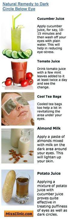 Dark eye circles remedies. #Beauty