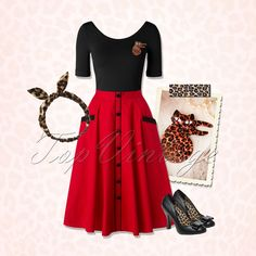 Purr Purr, Rock 'n roll the night away in this cute Rockabilly look.