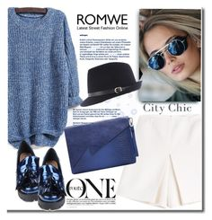 """""""Romwe"""" by j-sharon ❤ liked on Polyvore featuring Carven, Markus Lupfer, GetTheLook, StreetStyle and romwe"""