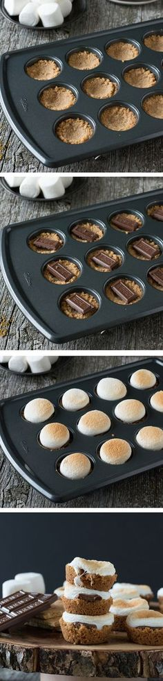 S'mores Bites - a twist on the classic dessert, make these little S'mores Bites in the oven!