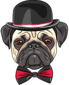 Vector Sketch Hipster Dog Pug Breed Color sketch hipster serious dog fawn pug breed in a hat and bow tie. Created: GraphicsFilesIncluded: JPGImage Layered: Yes MinimumAdobeCSVersion: CS Tags: Headdress Pug Breed, Pug Cross, Tableau Pop Art, Pug Cartoon, Hipster Dog, Pug Photos, Fawn Pug, Pug Art, Dog Vector